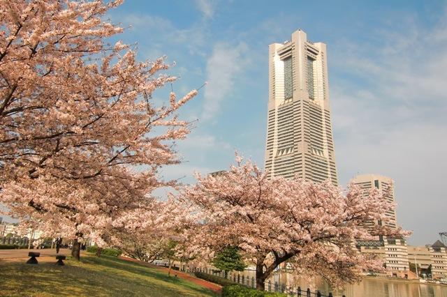 ウォーターフロントから見たランドマークタワー