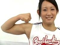 筋肉美少女は実在した!マッチョな美少女本田奈々美のデビュー作!