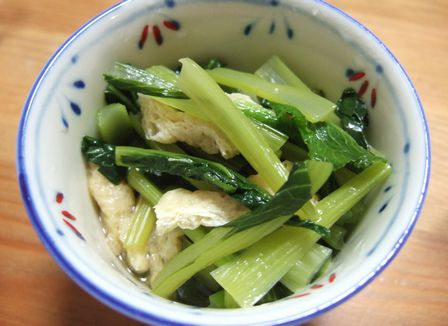 小松菜と揚げの炊いたん