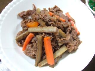 牛肉とごぼうの炒め煮0425