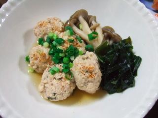 豆腐団子の麺つゆ煮
