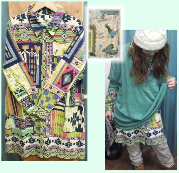 Shanti2シャツドレス(グレイジング)
