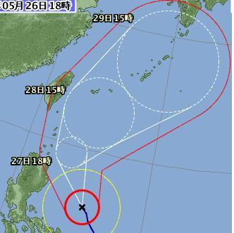 台風2号接近 0526