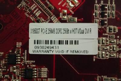 X1950GT PCI-E 256MB DDR3 256bit