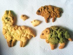もこもこした 動物の クッキー