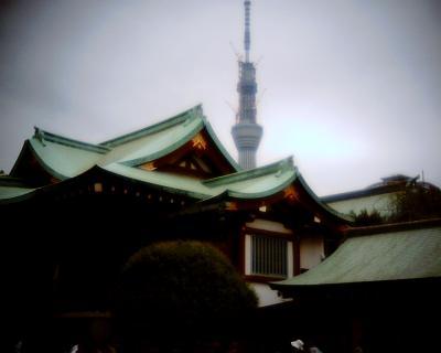 亀戸天神で東京スカイツリー:Entry