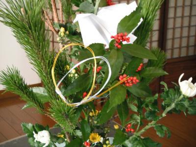 お正月花②