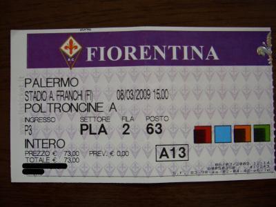 フィオレンティーナ×パレルモのチケット