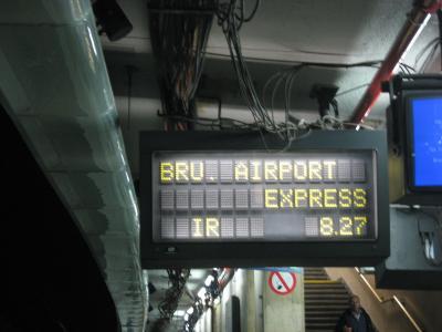 ブリュッセル中央駅からブリュッセル空港まで