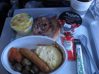 ロンドンから成田までの機内食2回目