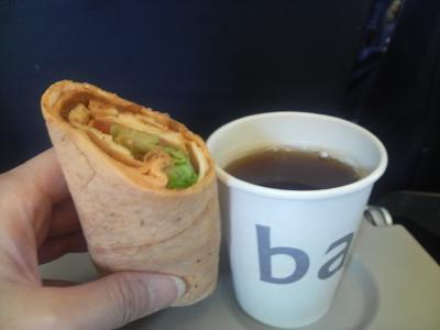 ベルギーからロンドンまでの機内食
