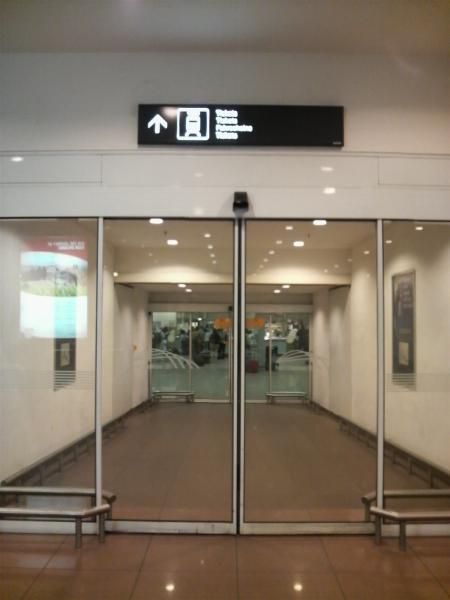 ブリュッセル空港の鉄道入口
