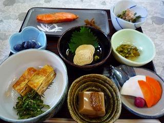 葉留日野山荘の朝食