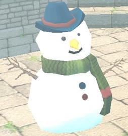 NPC 冬イベント 雪だるま 魔法の雪のかたまり 3