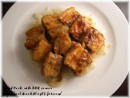 豚ばら肉のオーブン焼き BBQソース