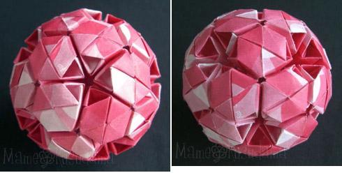 ハート 折り紙:ユニット折り紙くす玉-xkusudamax.blog.fc2.com
