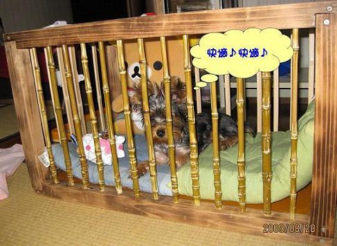 手作りの犬小屋