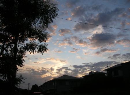 7/13.19:34の西の空