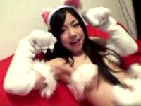 【無修正】めちゃ可愛い猫耳パイパンロリ美少女!